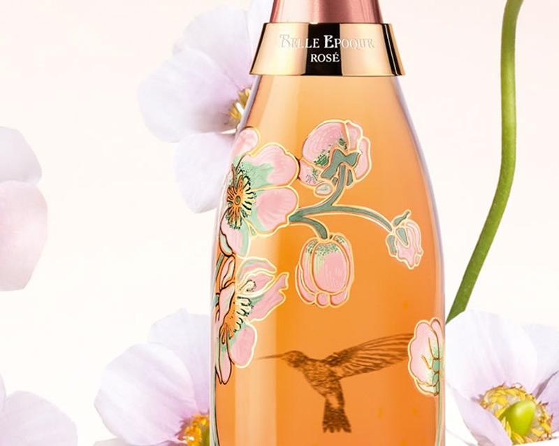 Vik Muniz's Limited Edition Bottle of Perrier Jouët Belle Epoque Rosé 2005