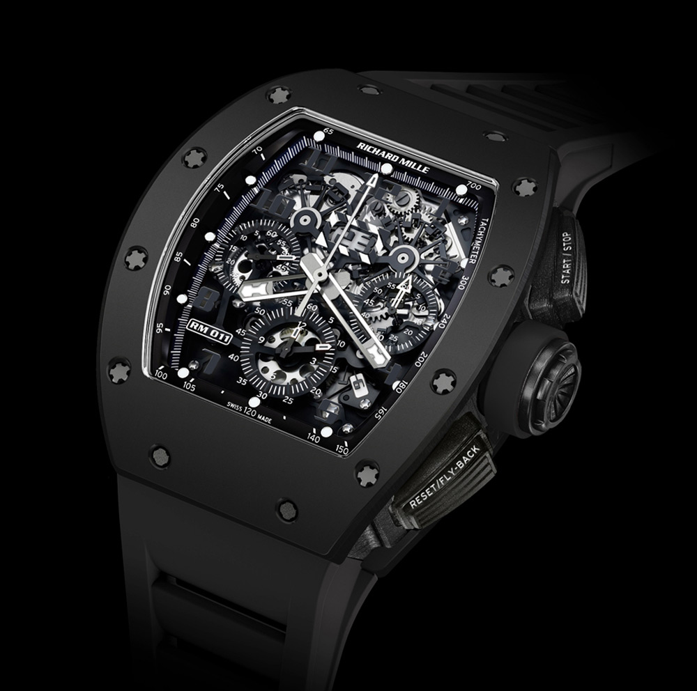 "Richard Mille's RM 011 Automatic Flyback Chronograph ""Black Phantom"""