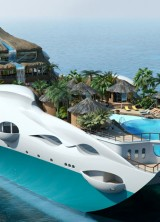 PARADISE FOR RICH – Luxury Yacht Disguised In An Island