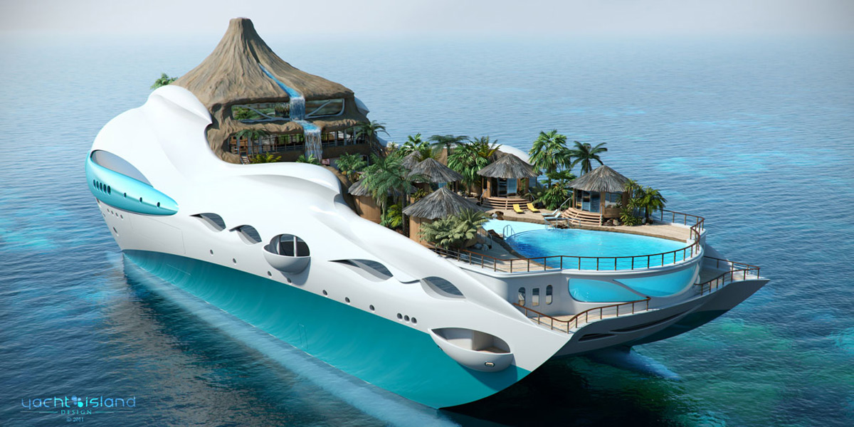 PARADISE FOR RICH - Luxury Yacht Disguised In An Island