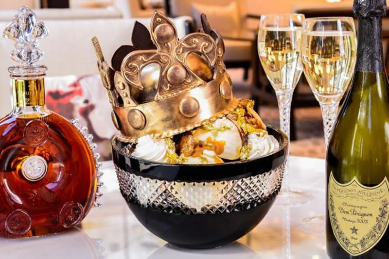 The $1,000 Victoria Ice Cream Sundae is named after the England queen