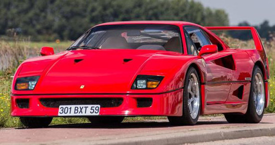 1989 Ferrari F40 Owned By Nigel Mansell Sold For $885,000