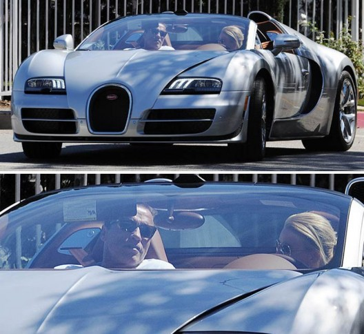"Arnold Schwarzenegger was recently photographed out in his car ""Bugatti Veyron Grand Sport Vitesse"" while sitting in the passenger seat"