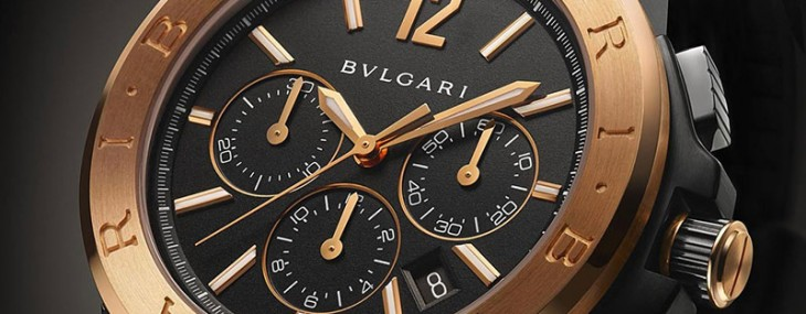Bvlgari Diagono Ultranero Chronograph Collection