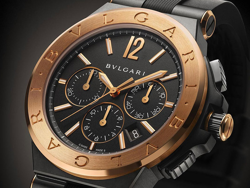Bulgari Diagono Ultranero Chronograph Collection