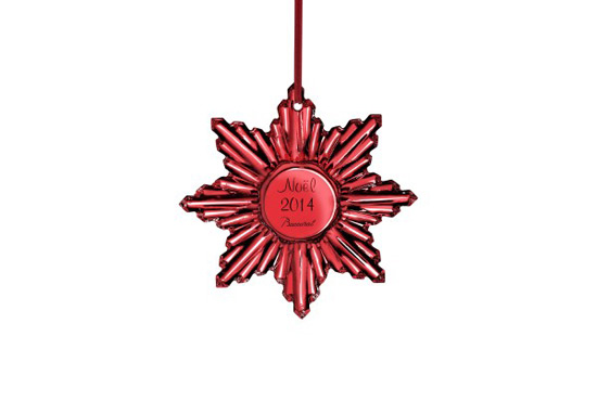 "Baccarat ""Christmas in Red"" for 250th Anniversary"