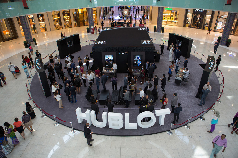 Hublot Unveils Its Latest Pop-up-Store in Dubai