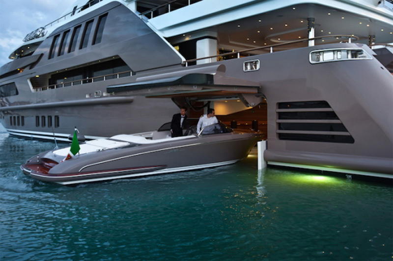 CRN Mega Yachts J'ade With Its Own Drive-in Garage