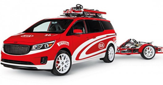 Kia Sedona Karting Vehicle At SEMA Show In Las Vegas
