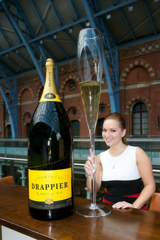 Largest Bottle of Champagne Arrives in London