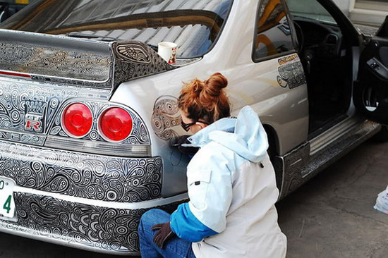A Marker Painted Vehicle Become A Work Of Art
