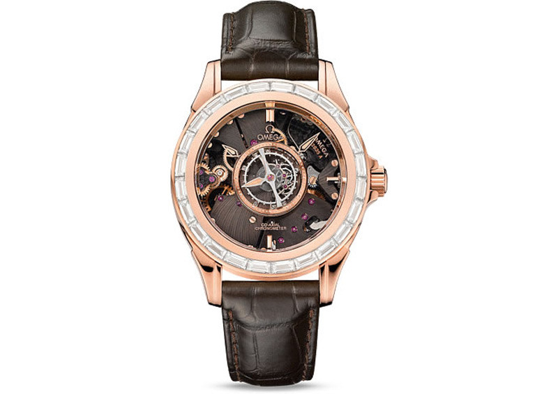 Limited Edition Omega De Ville Central Tourbillon Chronometer With Diamonds