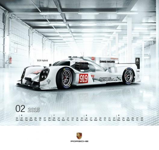 Porsche Calendar 2015 + Collector's Medal - Monochrome Purity