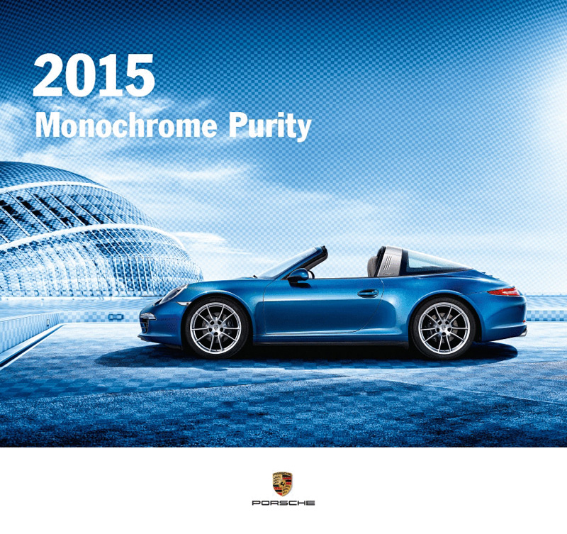 Porsche Calendar 2015 + Collector's Medal - Monochrome Purity