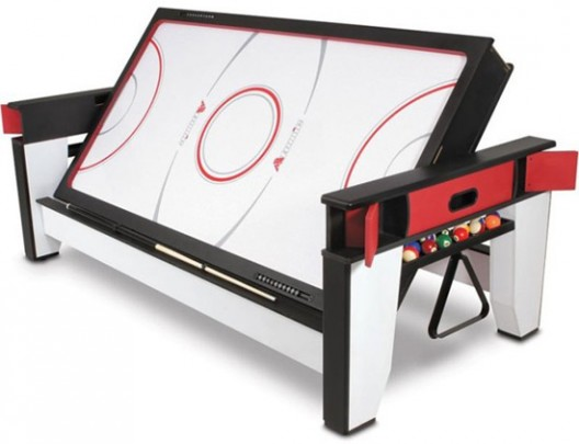 Two In One - The Rotating Air Hockey To Billiards Table