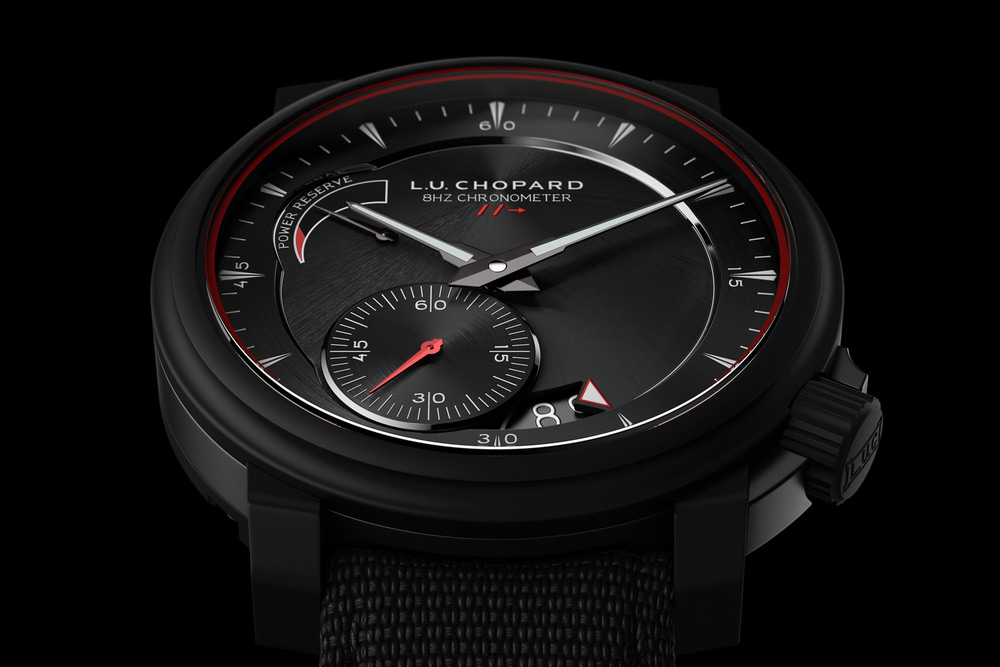 The L.U.C 8HF Power Control in ceramic and titanium