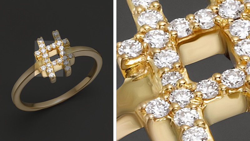 Bloomingdale Offers Diamond Hashtag Ring