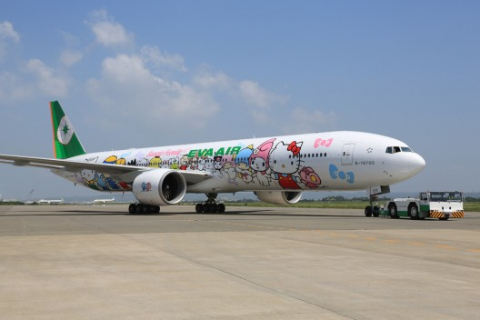EVA Air's Hello Kitty Jet Finally Arrived in Europe