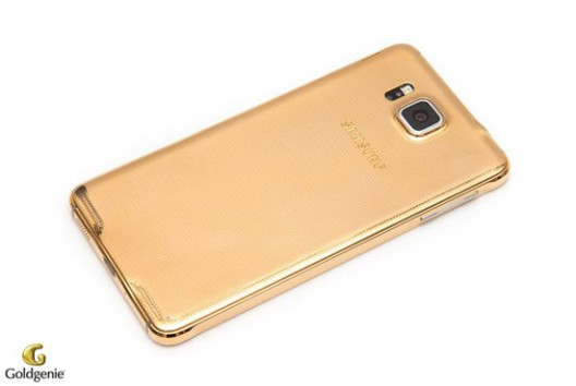 Samsung Galaxy Alpha Wrapped in 24-carat Gold