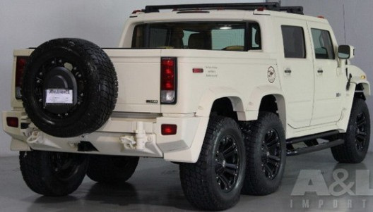 hummer h2 sut with six wheels on sale extravaganzi. Black Bedroom Furniture Sets. Home Design Ideas
