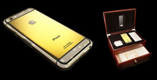 Gold Plated iPhone 6 with Swarovski Crystals by Goldgenie