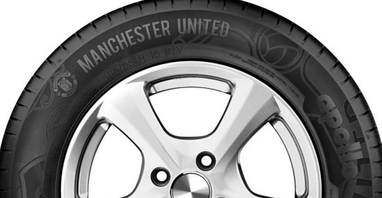 "Football club Manchester United became a partner with ""Apollo Tyres"", in order to create the tyres"