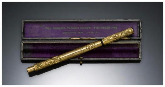 Parker Aztec Gold-Filled Fountain Pen Leading At Bonhams Auction