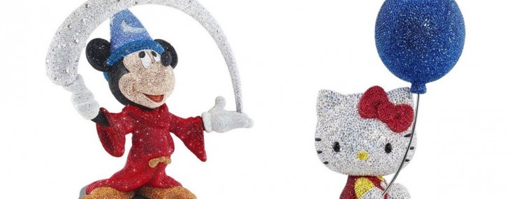 Mickey Mouse And Hello Kitty With Swarovski Crystals – Limited Edition 2014