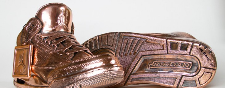 Bronzed Air Jordan Sneakers by Matthew Senna