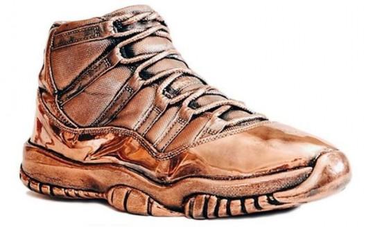 Bronzed Air Jordan Sneakers by Matthew Senna