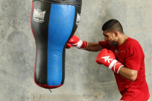 Amir Khan Will Fight in the Shorts with 24 carat Gold Thread Worth £30,000