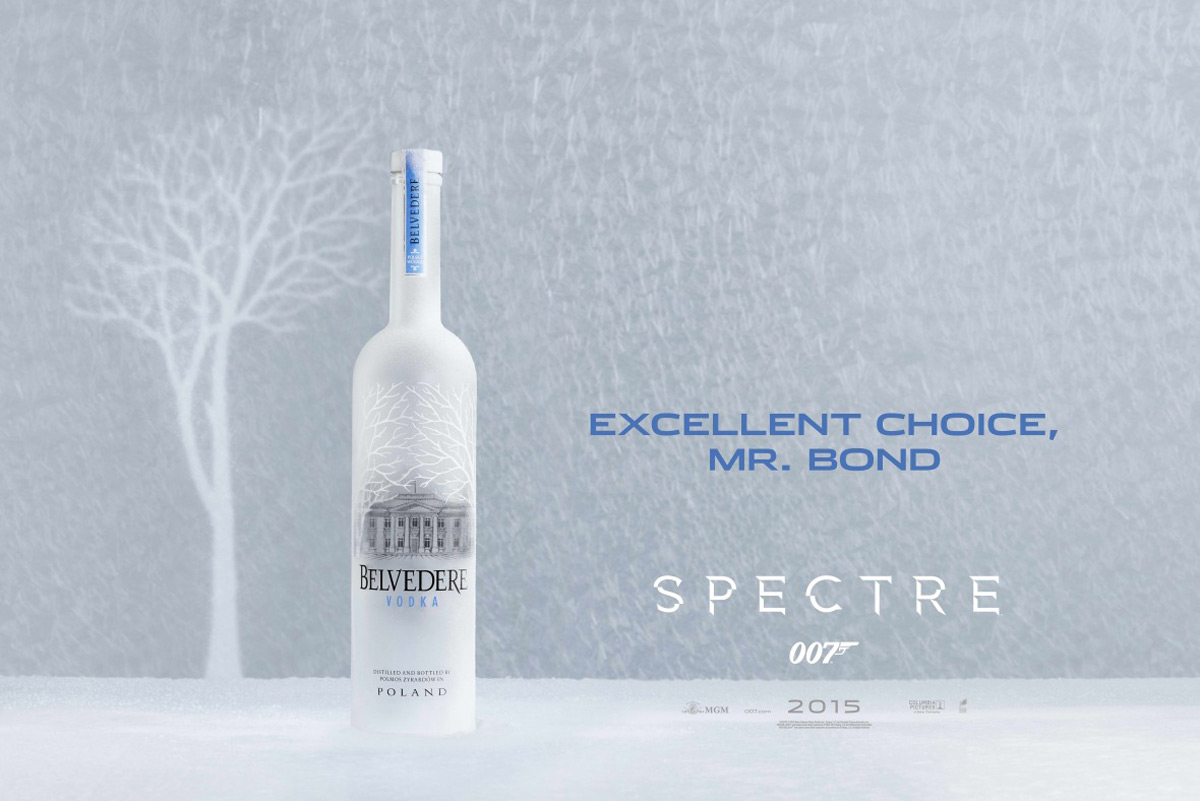 James Bond To Drink Belvedere Vodka in Spectre