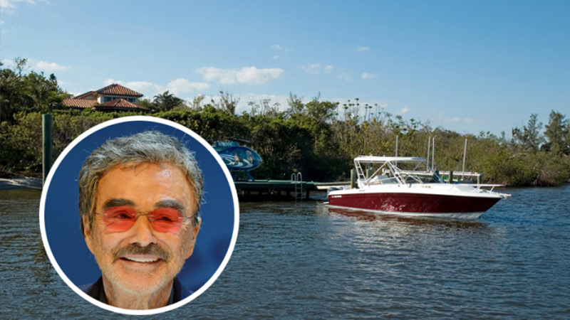Slashed Price for Burt Reynolds' Palm Beach County Home