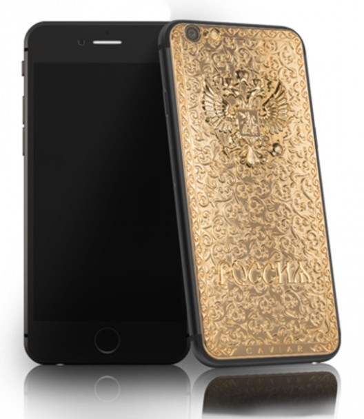 Italian jewelers Caviar worked on the creation of the first precious Caviar gadgets based on an innovative gadget from Apple - iPhone 6