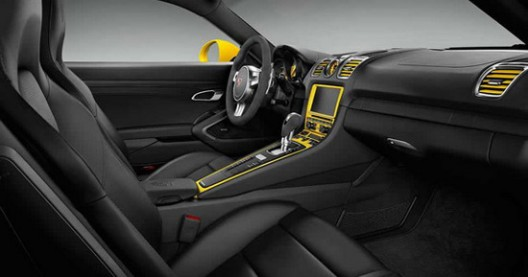Cayman S in striking Racing Yellow color with optional SportDesign package