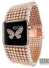 Diamond-Encrusted Apple iWatch by Mervis Diamonds