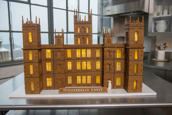 Gingerbread Replica of Downton Abbey