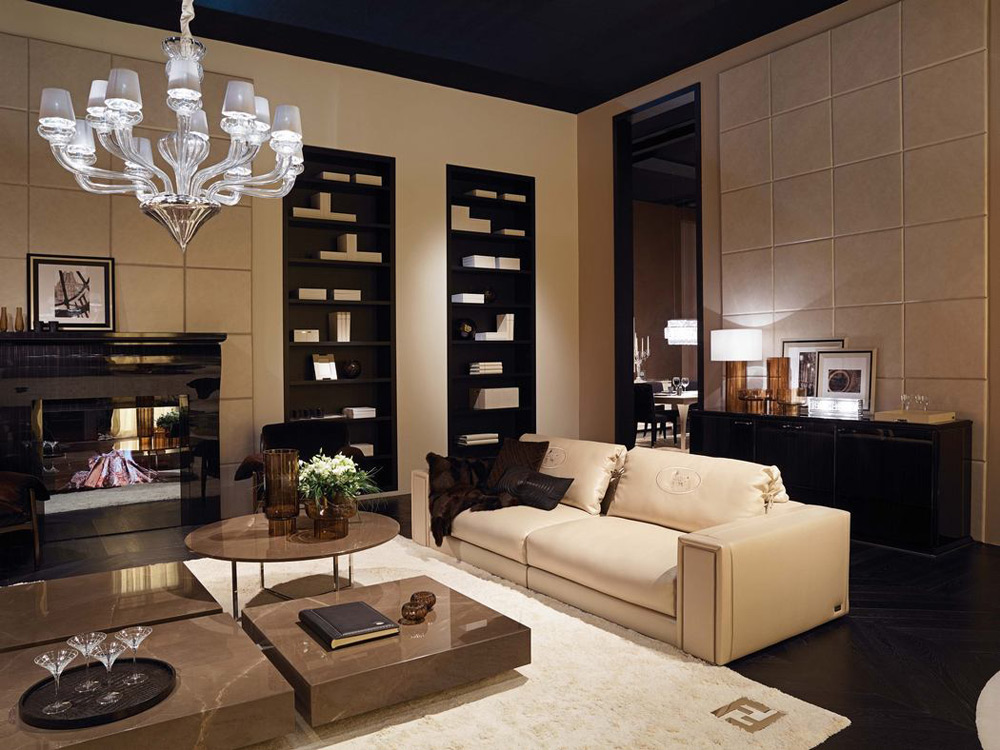 fendi casa 39 s new showroom in the heart of manhattan extravaganzi. Black Bedroom Furniture Sets. Home Design Ideas