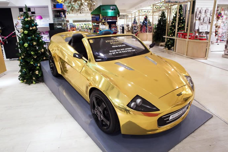Selfridges Offers £30,000 Gold-Plated Atom Car For Your Kid