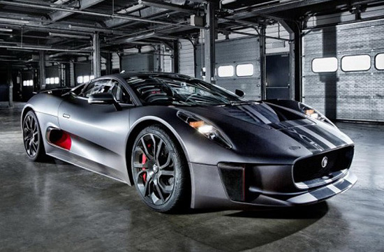Jaguar C-X75 In The New James Bond Movie