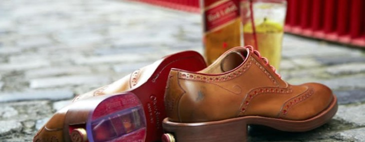 Shoes With Hidden Miniature Bottle of Johnnie Walker Red Label!