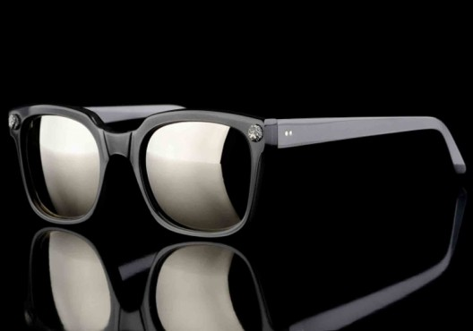 Kirk & Kirk Sterling Silver and Platinum Lion Alex Sunglasses in Anthracite
