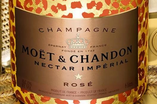 Moët & Chandon Nectar Impérial Rosé Leopard Luxury Edition