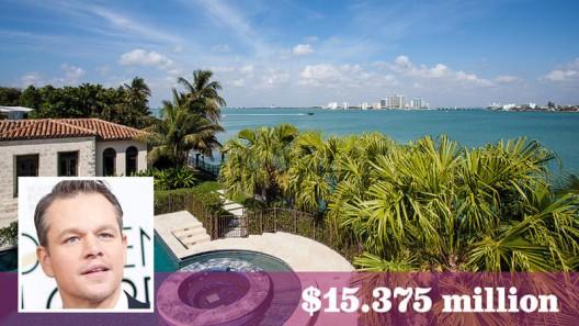 Matt Damon Finally Sold His Miami Beach Mansion
