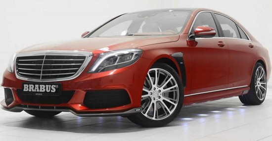 """Earlier this month appeared Brabus 850 S63 AMG in """"light copper"""" color, and now in front of us is S class in striking """"candy red"""" edition"""