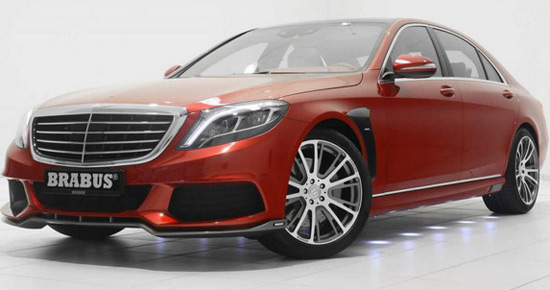 "Earlier this month appeared Brabus 850 S63 AMG in ""light copper"" color, and now in front of us is S class in striking ""candy red"" edition"