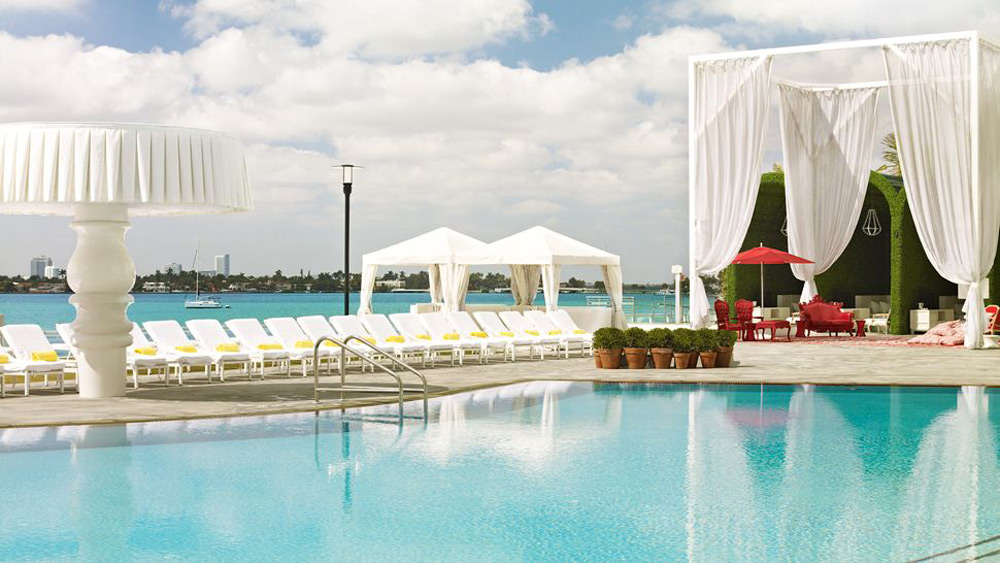Mondrian South Beach Hotel on Biscayne Bay