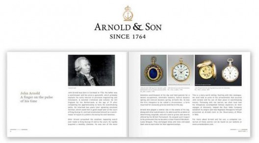 Lavishly illustrated, new Arnold & Son Catalogue 2014/2015 comes with new chapters and an entirely overhauled design