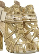 Nicholas Kirkwood's Gilded Footwear from Victoria's Secret Show