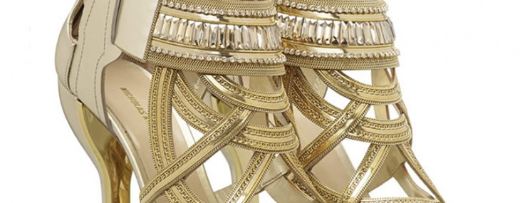 Nicholas Kirkwood's Gilded Footwear from Victoria's Secret Show